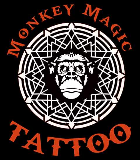 Monkey Magic Tattoo Logo Image